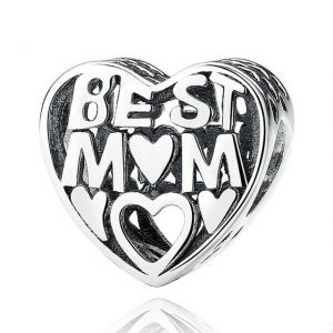 CHARMS SREBRO 925 BEST MOM MAMA 24H