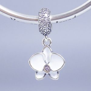 CHARMS SREBRO 925 orchidea