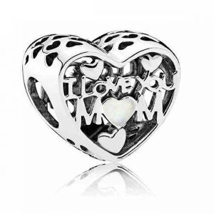 CHARMS SREBRO 925 I LOVE YOU MOM MAMA 24H