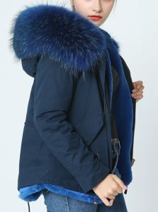 PARKA JACKET DARK BLUE SHORT