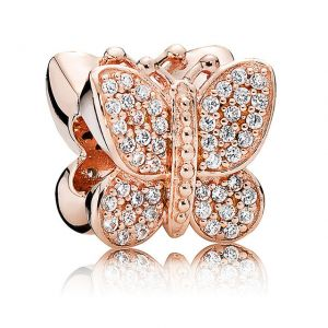CHARMS SREBRO 925 MOTYL ROSE
