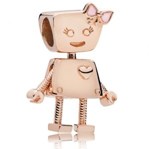 CHARMS SREBRO 925 ROBOT BELLA ROSE